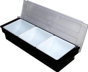 Caja Condimentos Bar 3 Compartimientos