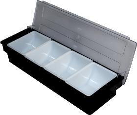Caja Condimentos Bar 4 Compartimientos