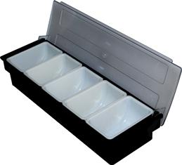 Caja Condimentos Bar 5 Compartimientos
