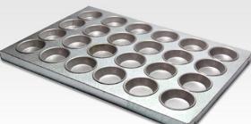 Charola Muffin Aluminio (24pzs)