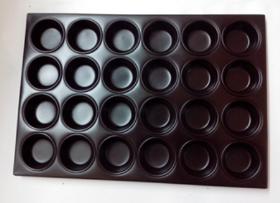 Charola Muffin Aluminio C/Teflon (24pzs)