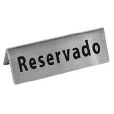 Letrero de Reservado para Mesa